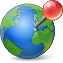 Globe with Pushpin Icon