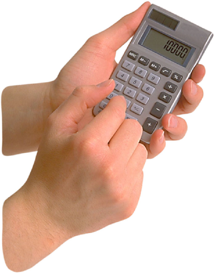 Hand with Calculator photo
